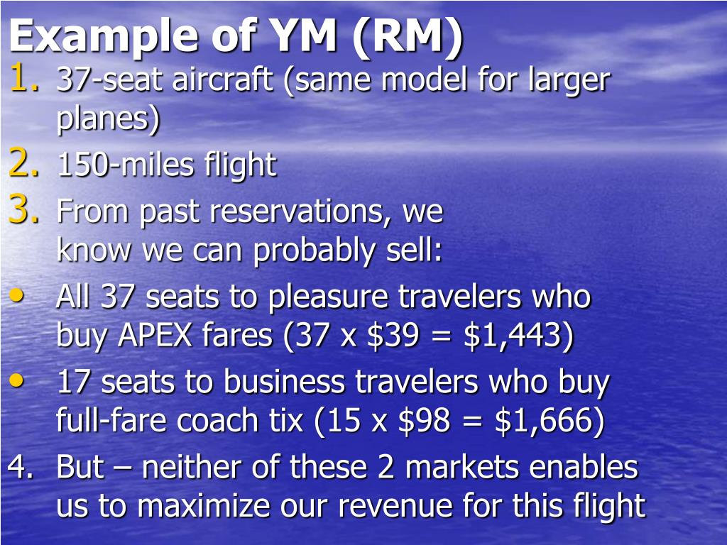 Example of YM (RM)