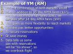 example of ym rm39