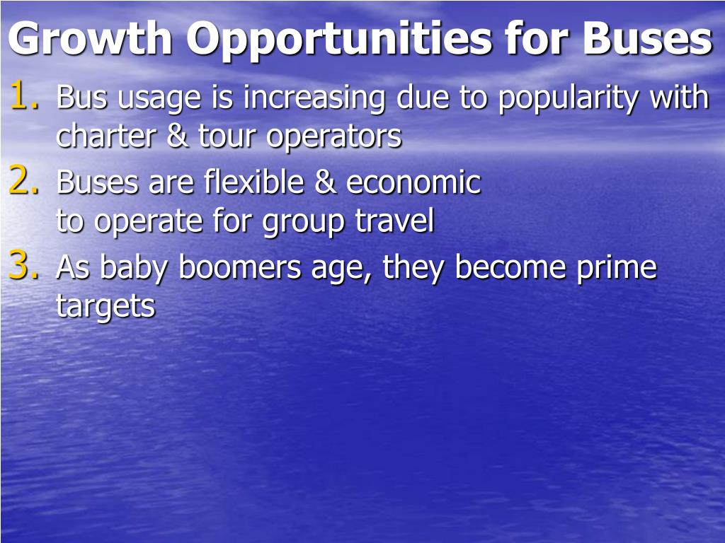 Growth Opportunities for Buses