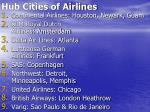 hub cities of airlines