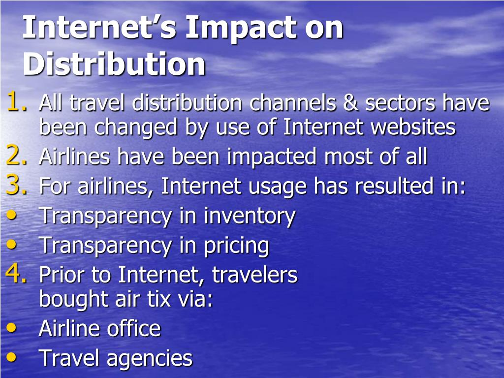 Internet's Impact on Distribution
