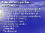 internet s impact on distribution
