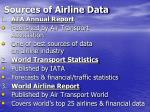 sources of airline data