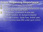 trains regaining importance13