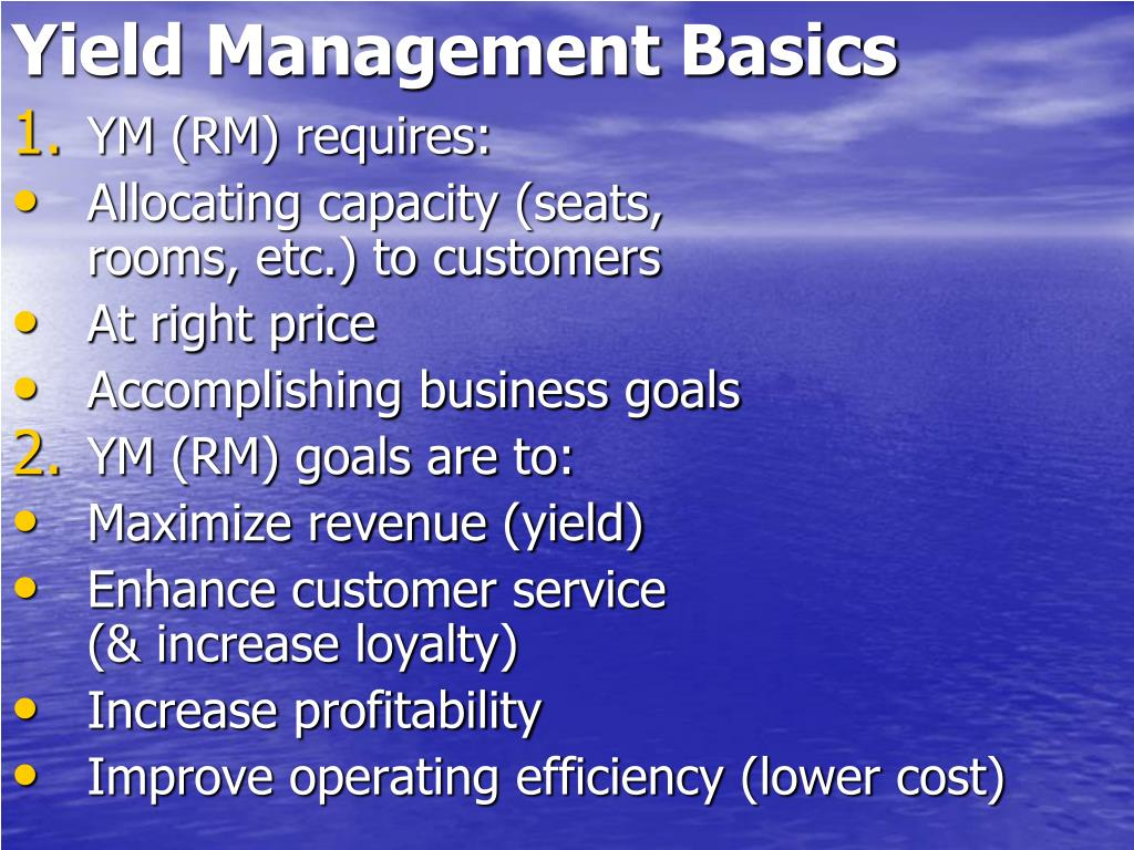 Yield Management Basics