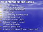 yield management basics