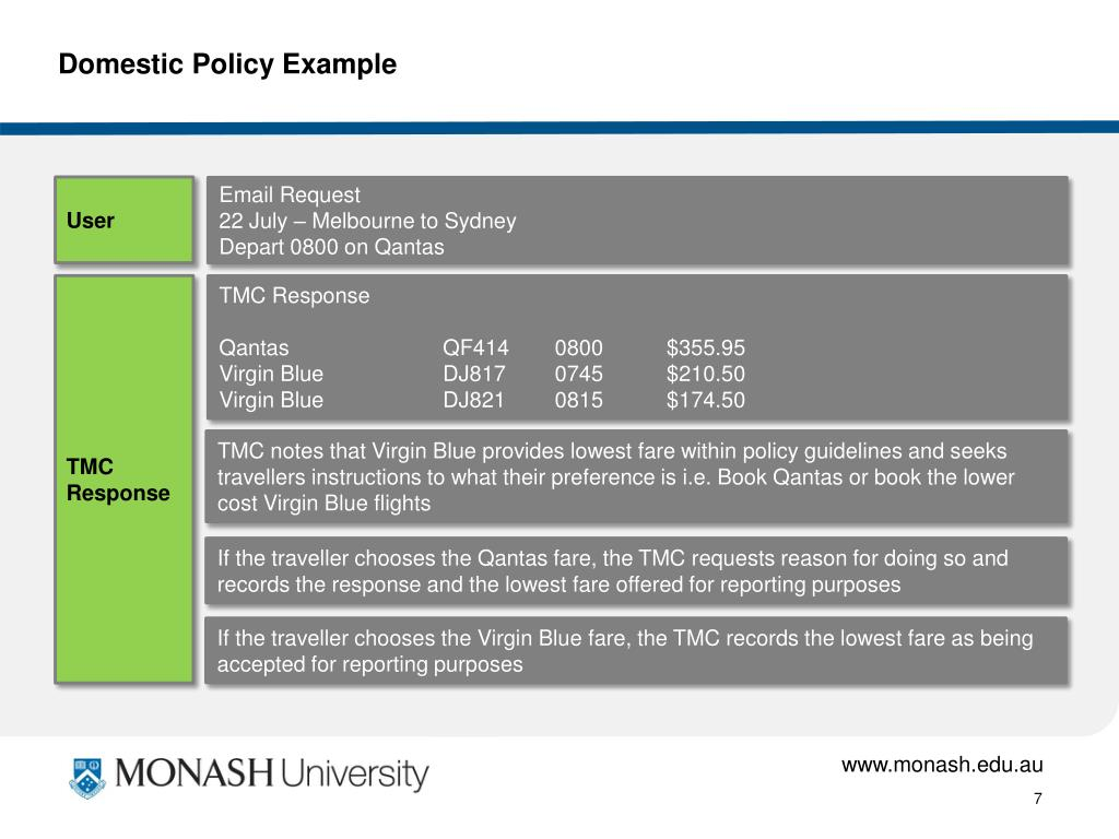 Domestic Policy Example