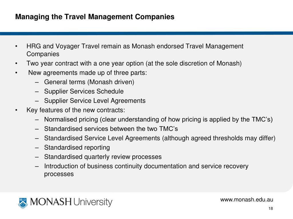Managing the Travel Management Companies