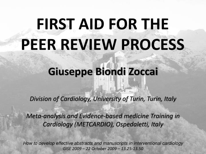 First aid for the peer review process l.jpg