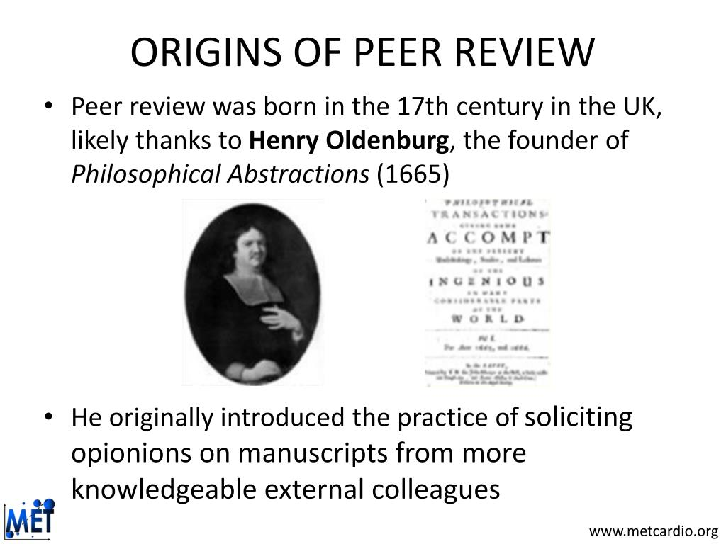 ORIGINS OF PEER REVIEW