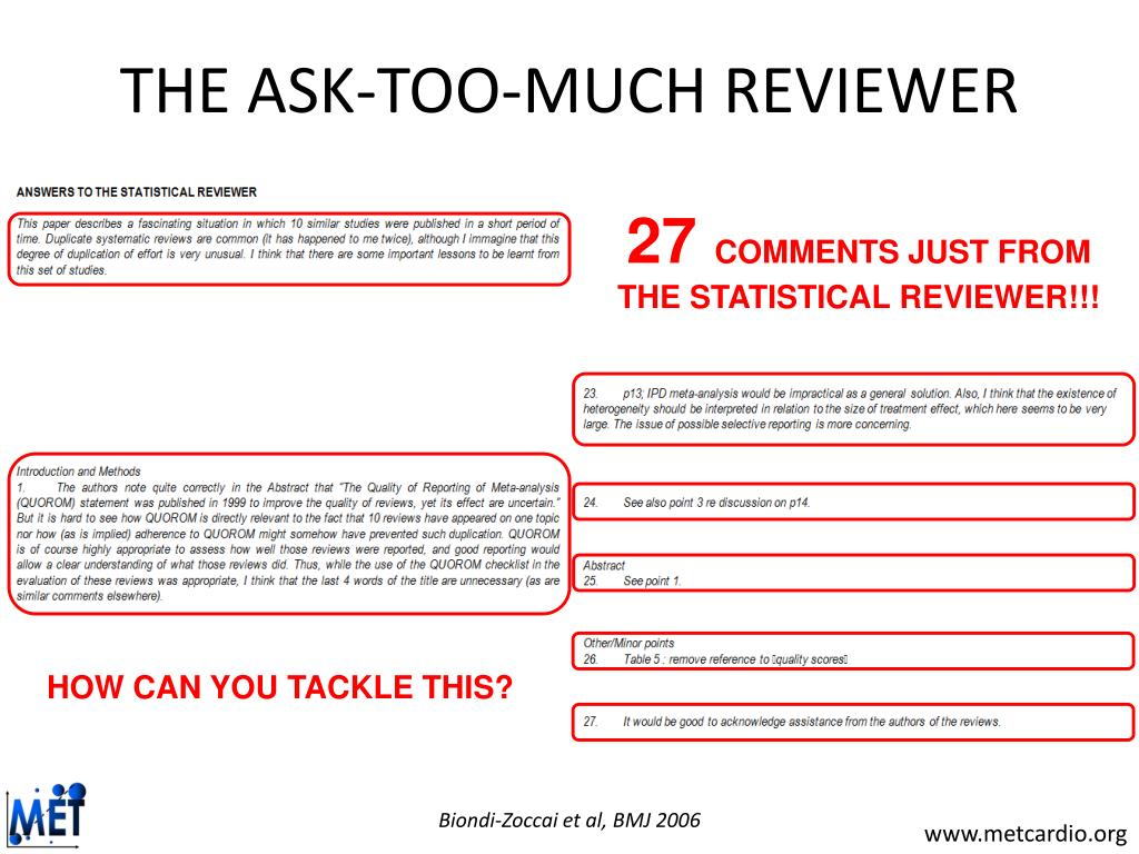 THE ASK-TOO-MUCH REVIEWER