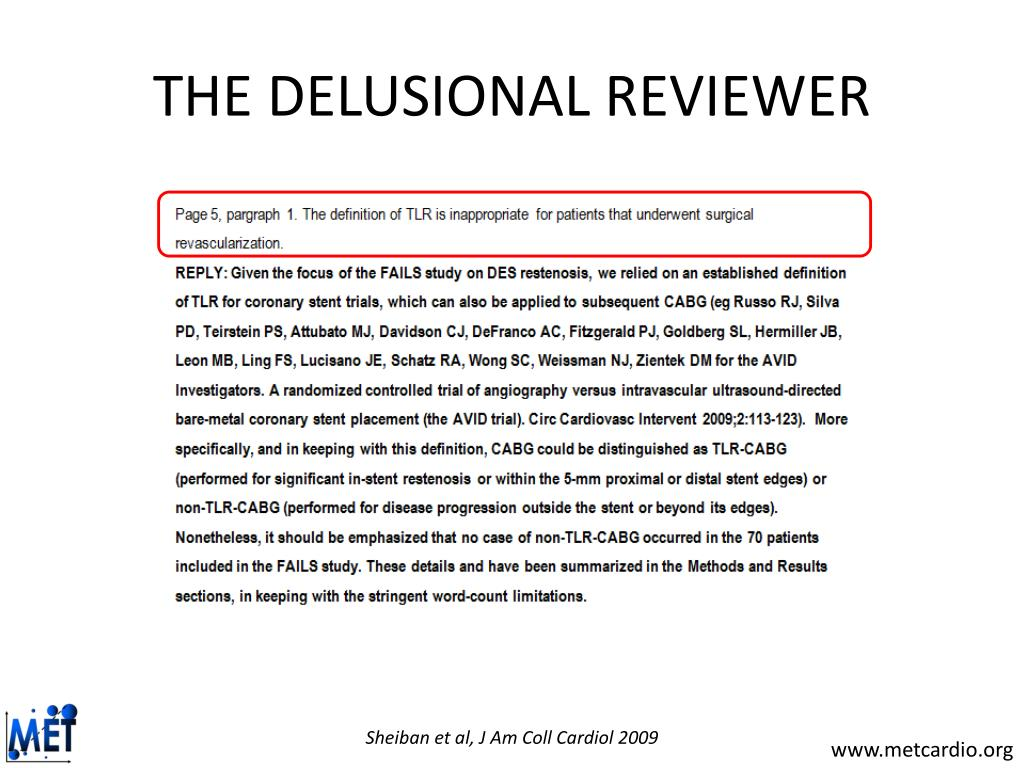 THE DELUSIONAL REVIEWER