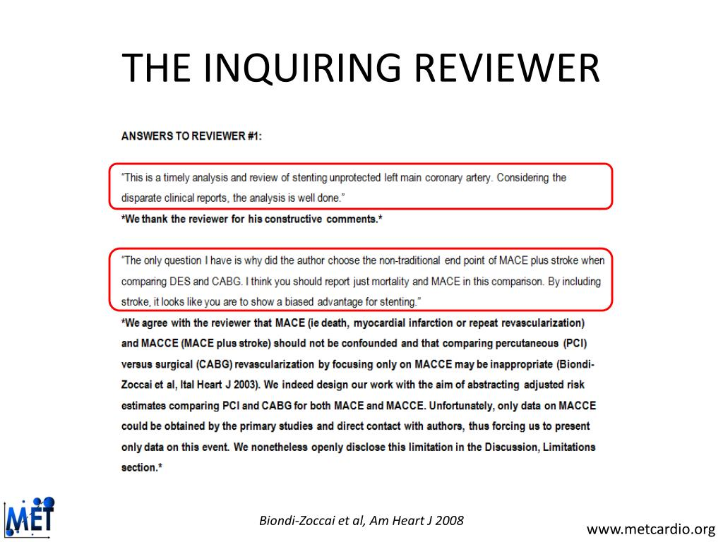 THE INQUIRING REVIEWER