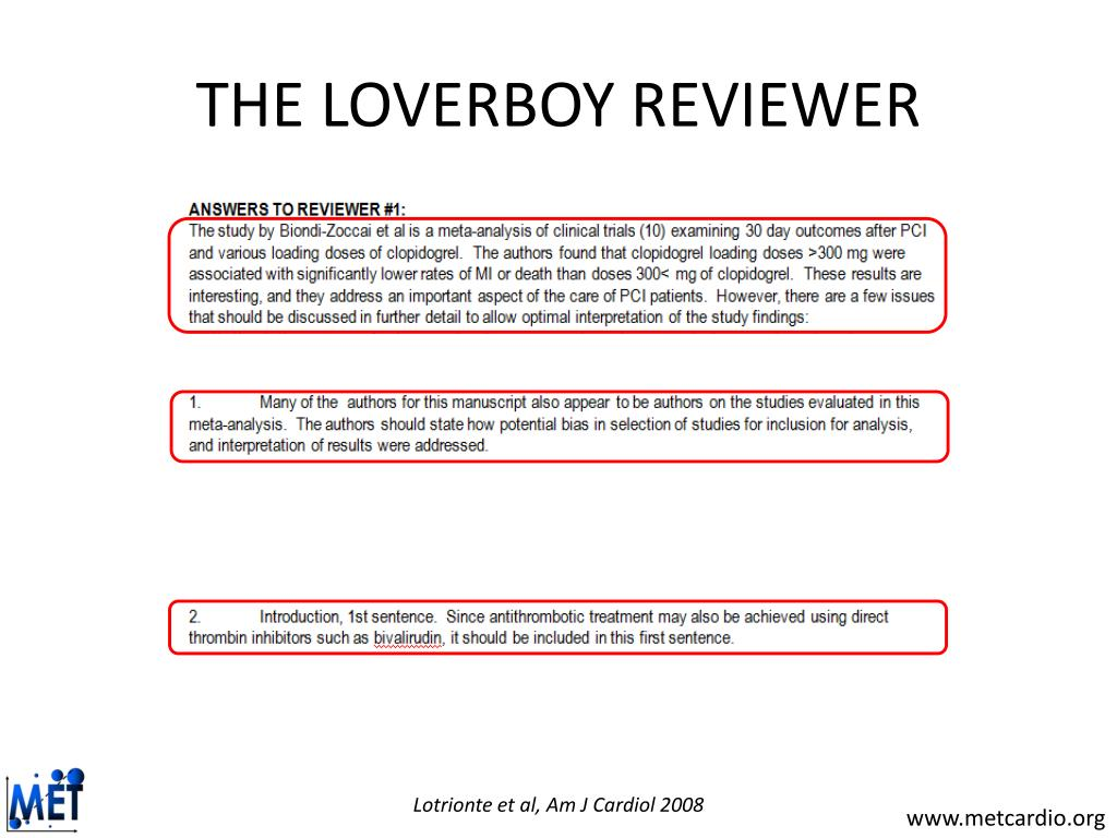 THE LOVERBOY REVIEWER