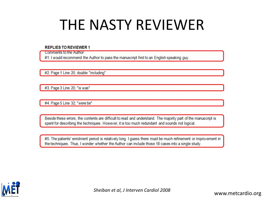 THE NASTY REVIEWER