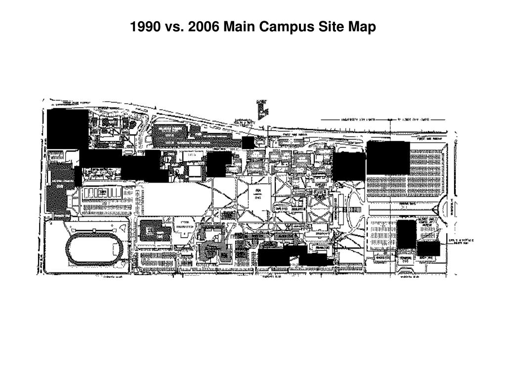 1990 vs. 2006 Main Campus Site Map