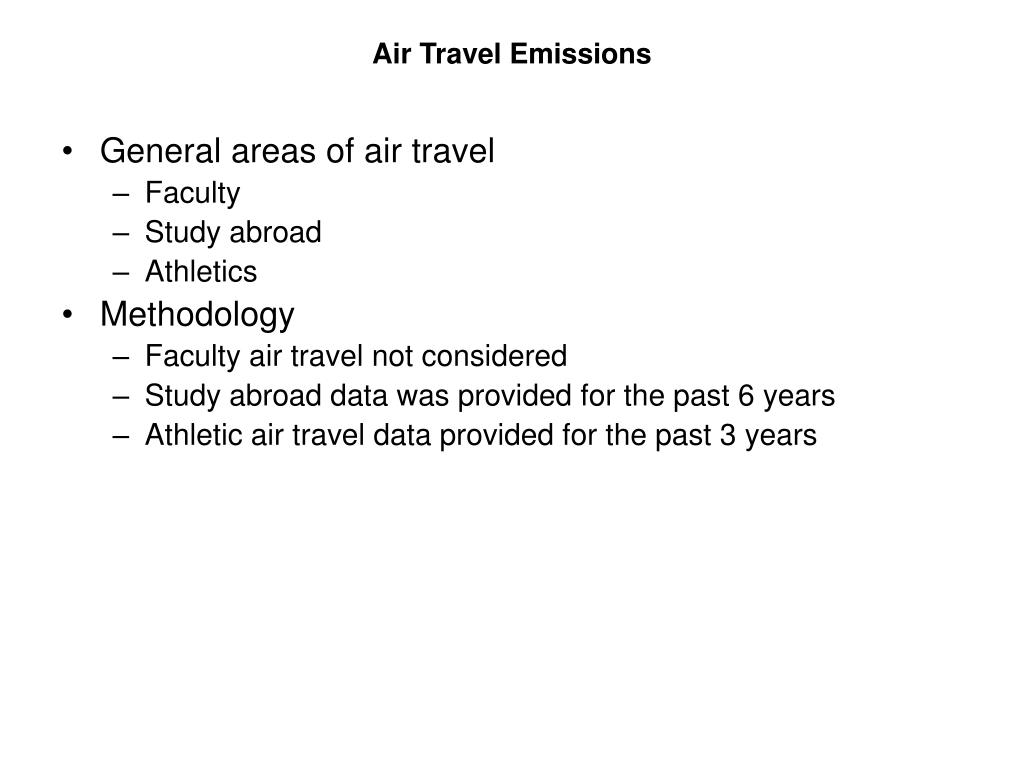 Air Travel Emissions