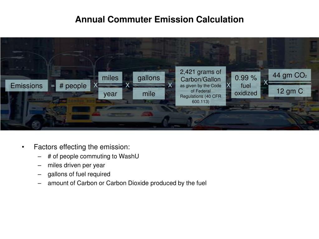 Annual Commuter Emission Calculation