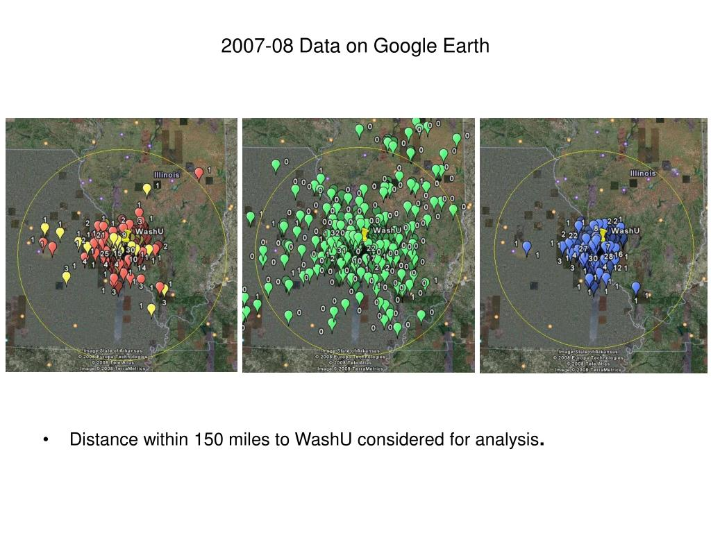 2007-08 Data on Google Earth