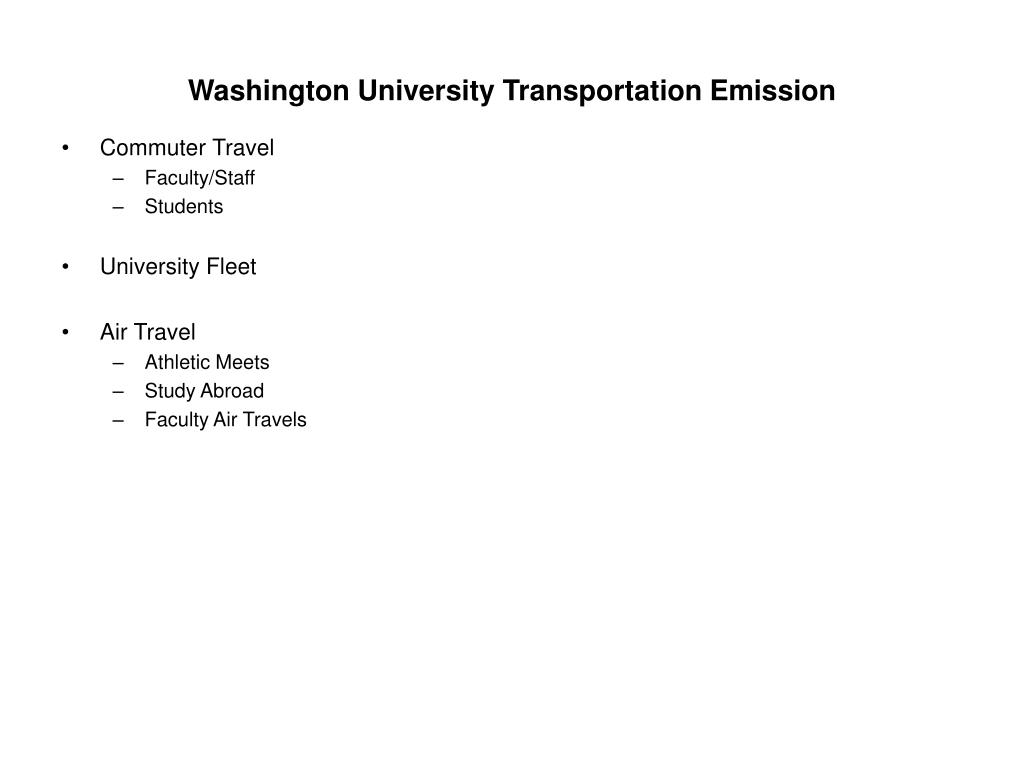 Washington University Transportation Emission
