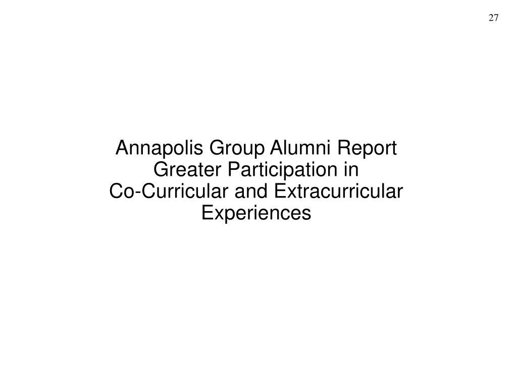 Annapolis Group Alumni Report