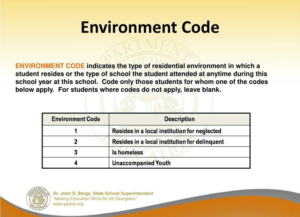 Environment Code