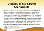 overview of title i part d21