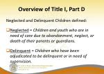 overview of title i part d4