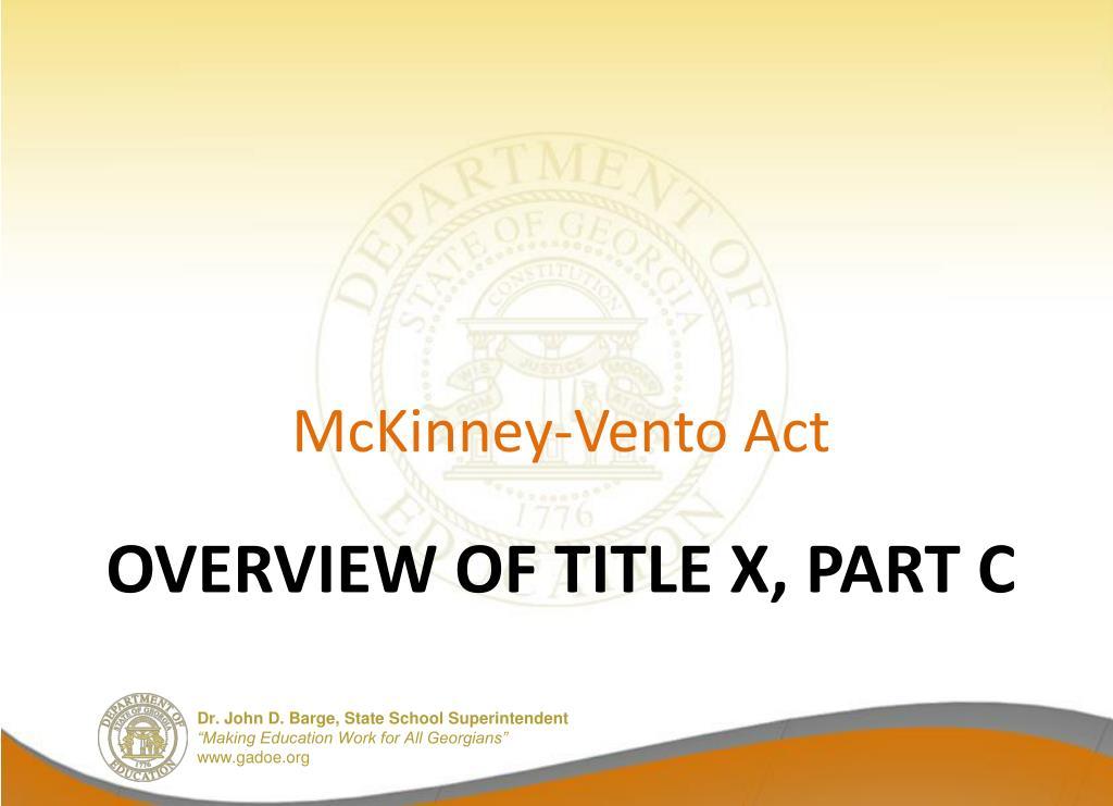 McKinney-Vento Act