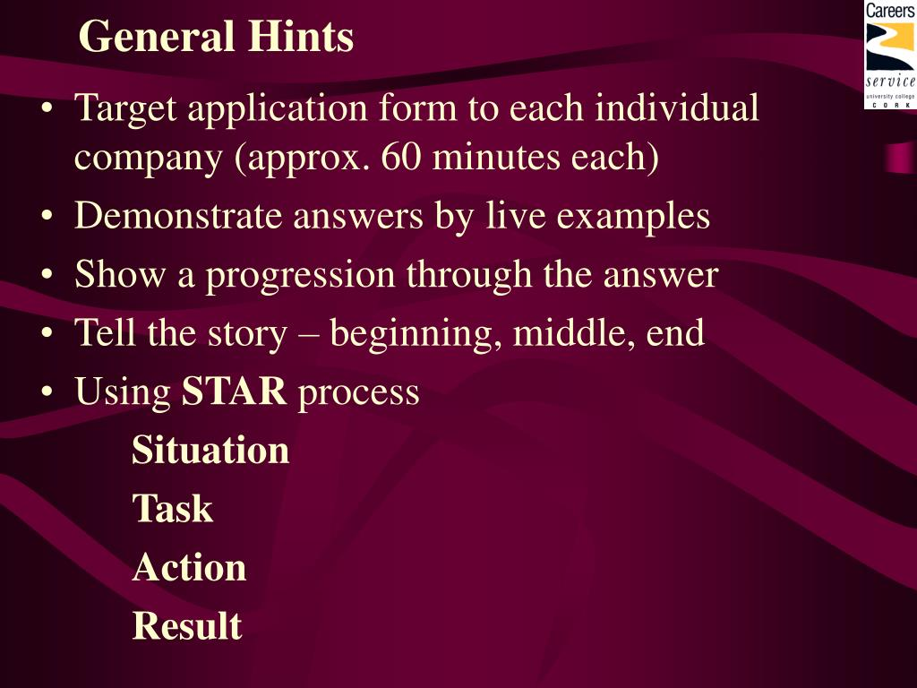 General Hints