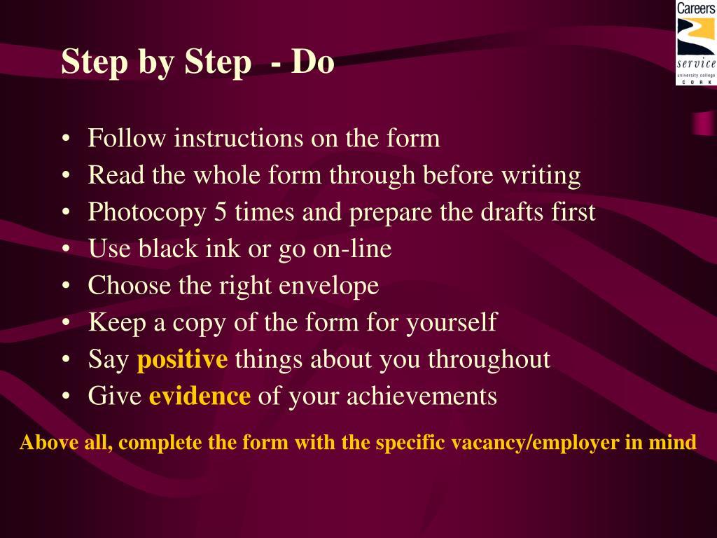 Step by Step  - Do