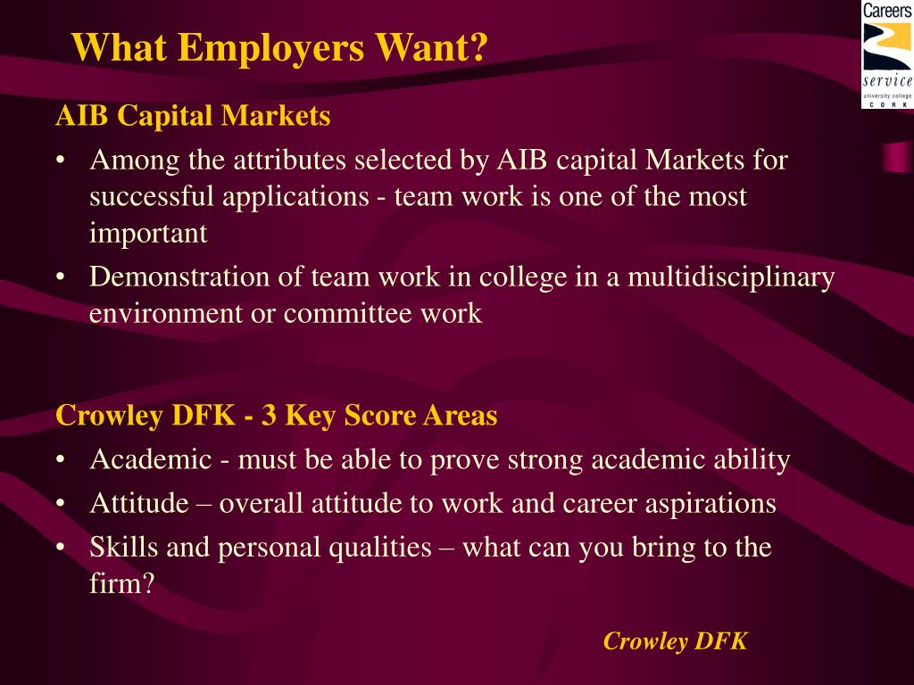 What Employers Want?