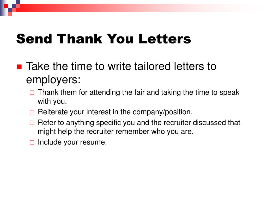Send Thank You Letters