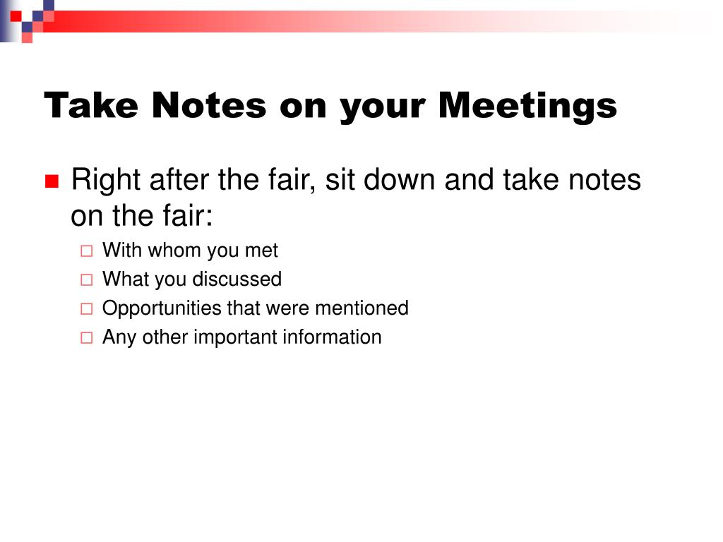 Take Notes on your Meetings