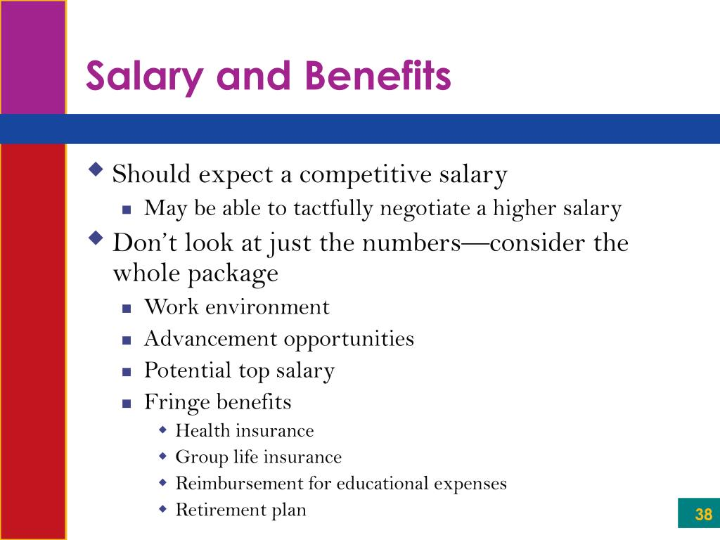 Salary and Benefits