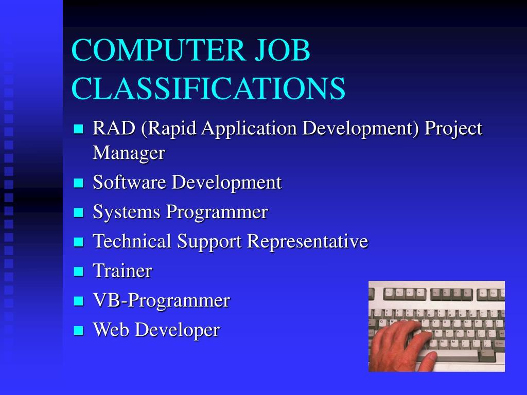COMPUTER JOB CLASSIFICATIONS