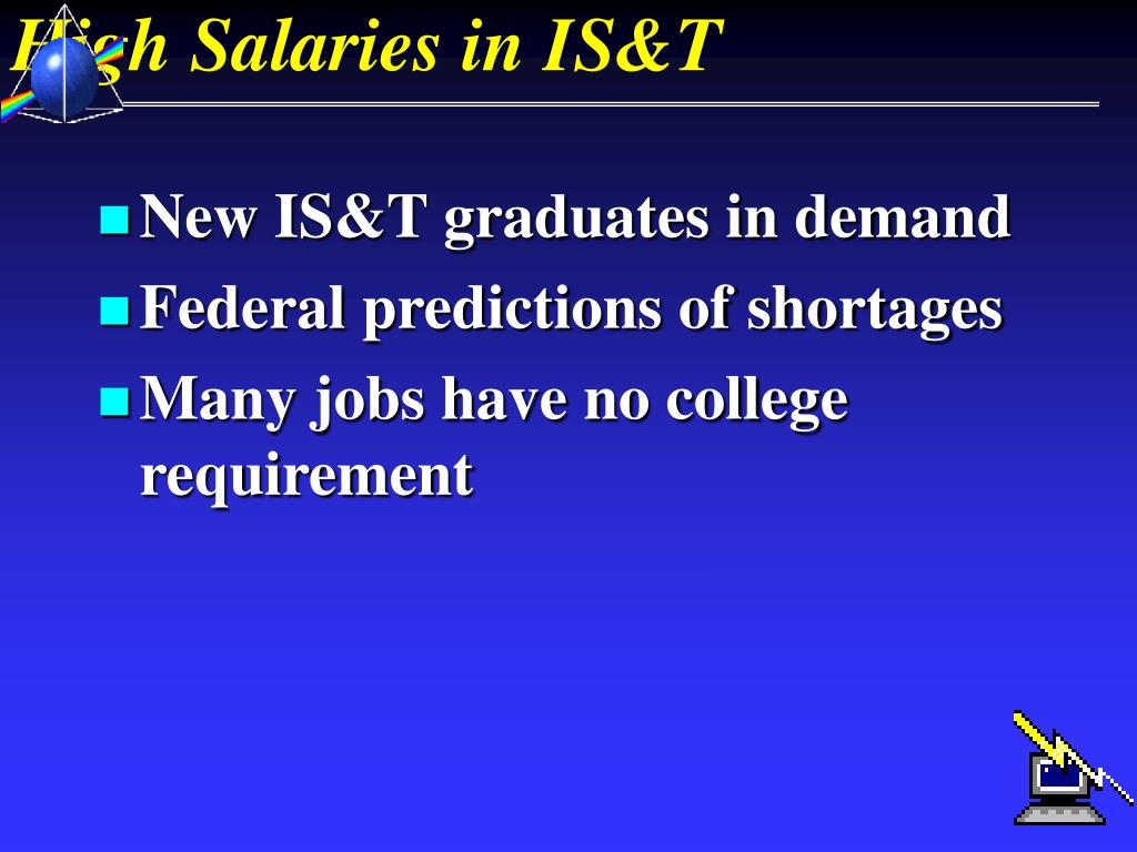 High Salaries in IS&T