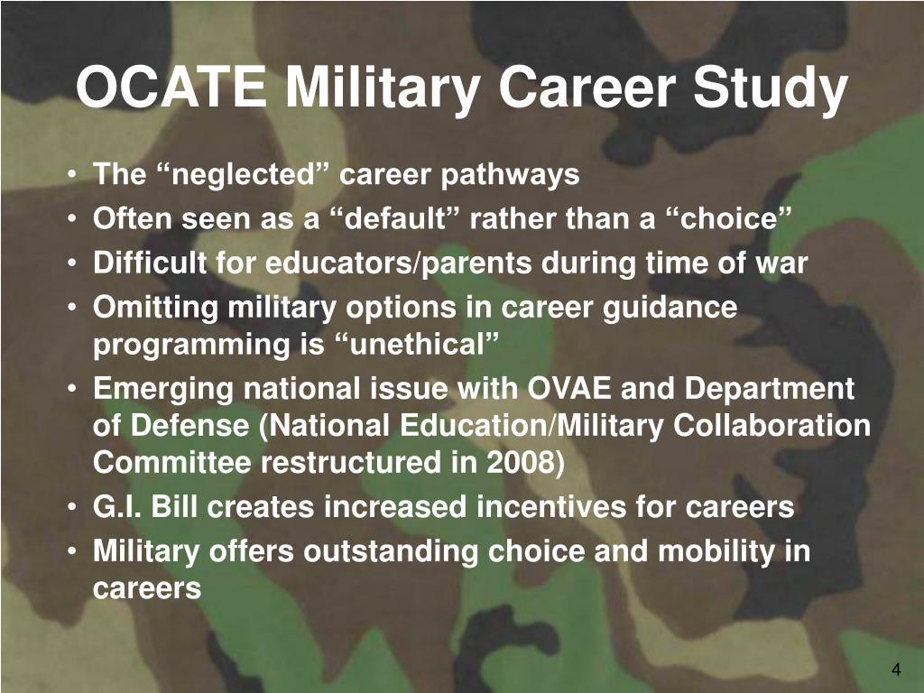 OCATE Military Career Study