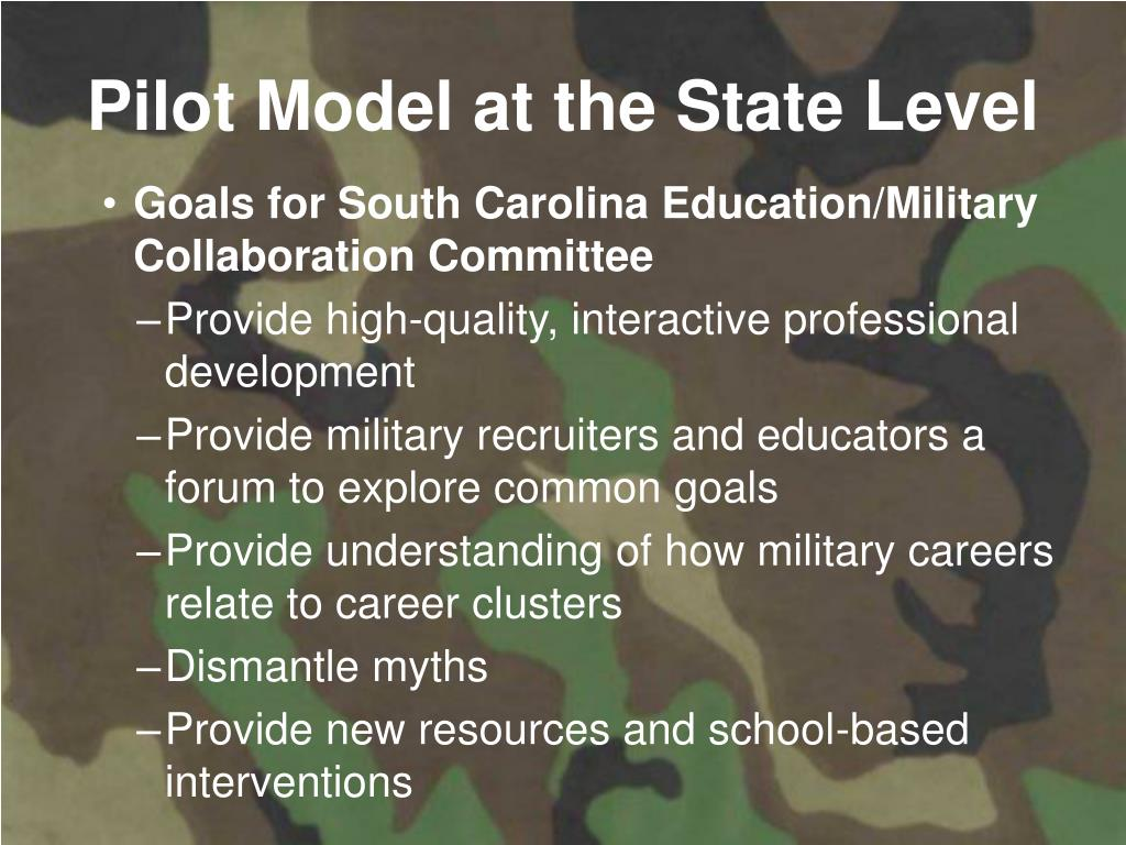 Pilot Model at the State Level