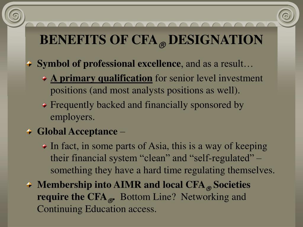 BENEFITS OF CFA
