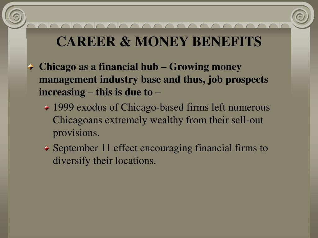 CAREER & MONEY BENEFITS