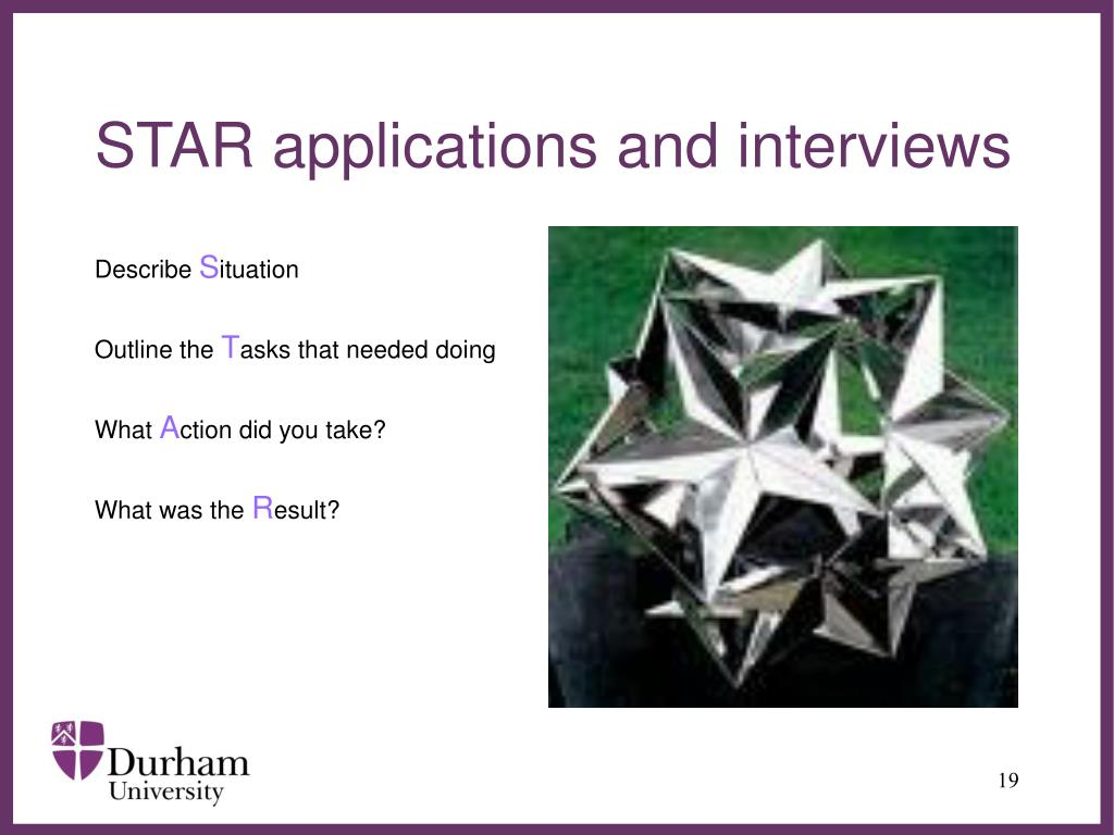 STAR applications and interviews