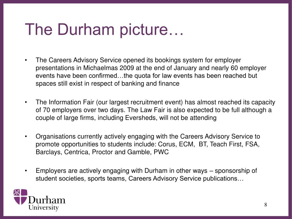 The Durham picture…