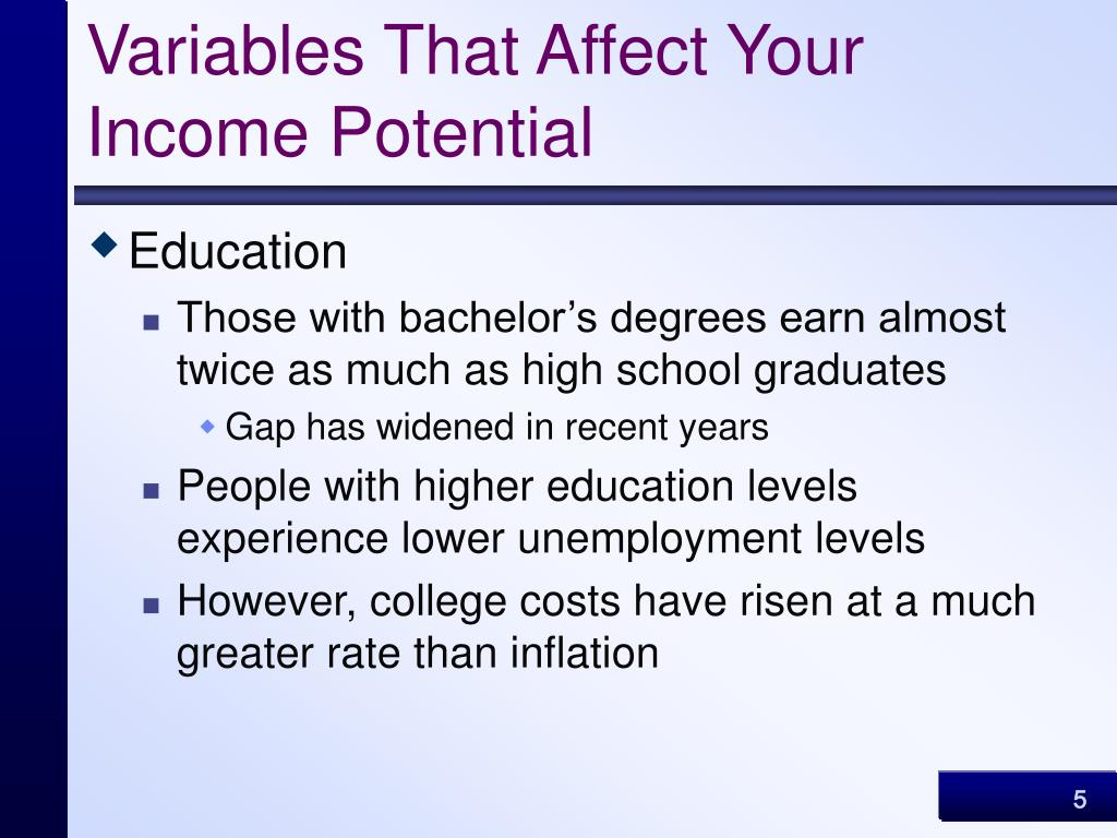 Variables That Affect Your Income Potential