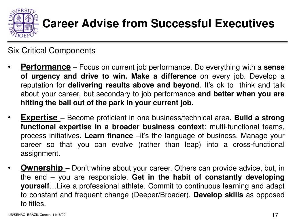 Career Advise from Successful Executives