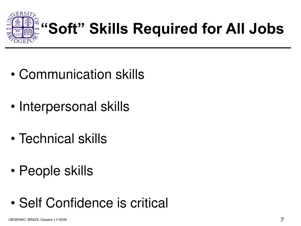 """Soft"" Skills Required for All Jobs"