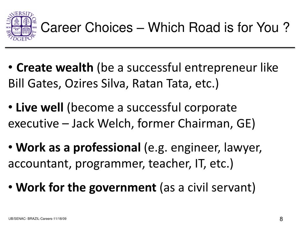 Career Choices – Which Road is for You ?