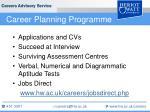 career planning programme