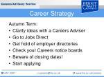 career strategy