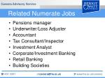related numerate jobs